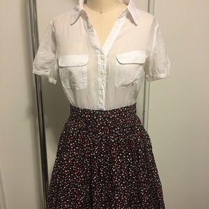 Jack B.B. Dakota dress Floral Skirt White Blouse